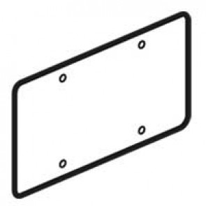 Universal cover Batibox - 71 mm fixing centres - for 2 gang box
