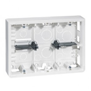 Surface-mounting box Mosaic- 2x6, 2x8 or 2x3x2 modules - depth 46 mm