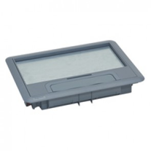 Plastic lid and trim for standard version floor boxes 8/12 modules Cat.Nos 088020 / 088023 / 088039