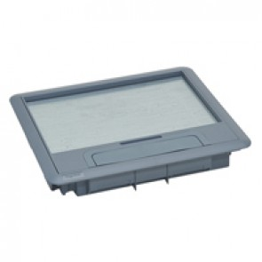Plastic lid and trim for standard version floor boxes 12/18 modules Cat.Nos 088021 / 088024 / 088040