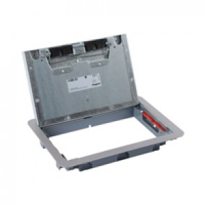 Metal lid and trim for standard floor boxes 8/12 modules Cat.Nos 088020 / 088023 / 088039 - with stainless steel coating