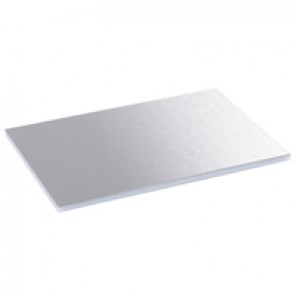 Finishing plate for plastic lids and trims for standard floor boxes - 12/18 modules - stainless steel finish