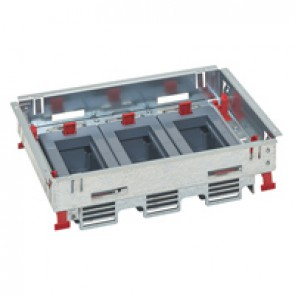 Support kits for standard floor boxes - for sockets in horizontal position - adjustable height - 12 modules