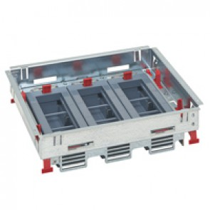 Support kits for standard floor boxes - for sockets in horizontal position - adjustable height - 18 modules