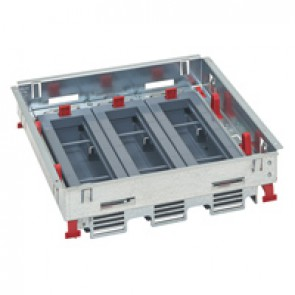Support kits for standard floor boxes - for sockets in horizontal position - adjustable height - 24 modules