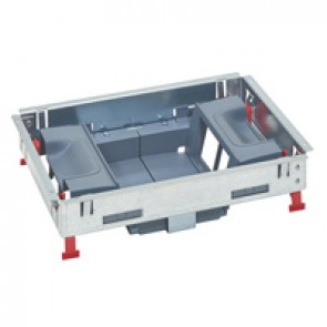 Support kits for standard floor boxes - for sockets in vertical position - 8 modules
