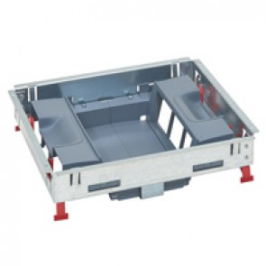 Support kits for standard floor boxes - for sockets in vertical position - 12 modules