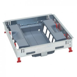 Support kits for standard floor boxes - for sockets in vertical position - 16 modules