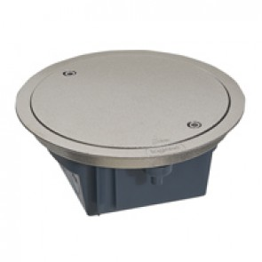Floor box with removable lid - IP66 - 4 modules - stainless steel