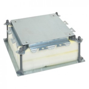 Universal adjustable backbox for floor boxes - for concrete floor - screed height 55 to 150 mm