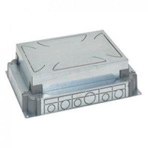 Auto-adjusting backbox for standard or flush version floor boxes - for concrete floor - 8/12 modules