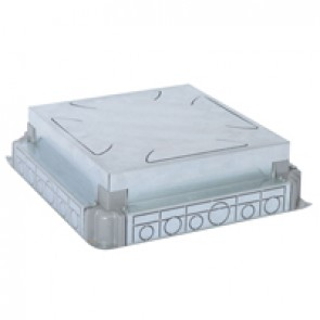 Auto-adjusting backbox for standard or flush version floor boxes - for concrete floor - 16/24 modules
