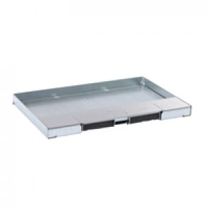 Metal lid for flush version floor boxes 8/12 modules Cat.Nos 088120 / 088123 / 088139 - with stainless steel coating
