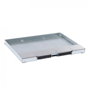 Metal lid for flush version floor boxes 12/18 modules Cat.Nos 088121 / 088124 / 088140 - with stainless steel coating