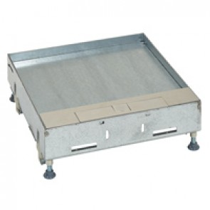 Metal lid for flush version floor boxes 16/24 modules Cat.Nos 088122 / 088125 / 088141 - with stainless steel coating