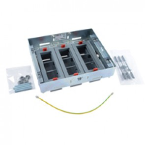 Support kits for flush floor boxes - for sockets in horizontal position - adjustable height - 18 modules