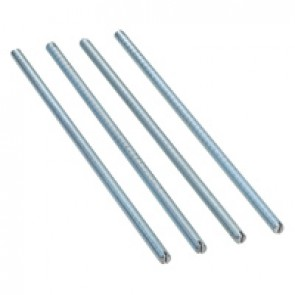 Set of 4 screw-on feet for support kits for flush floor boxes - for height higher than 122 mm