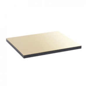 Finishing plate for flush version floor boxes - 16/24 modules - brass finish