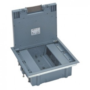 Plastic cover floor box for wiring devices in vertical position - 12 modules
