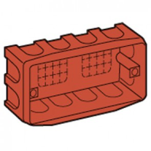 Flush-mounting box Batik - for Vela/Mosaic - 130x71 mm - 4 modules - masonry