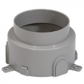 Flush-mounting box - for concrete for floor service outlet box