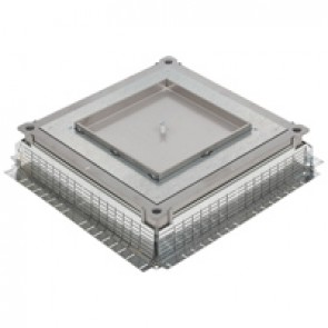 Plain plate for metal in-screed floor box - IP66 - for all types of floors