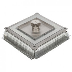 Plate for metal in-screed floor box - IP66 - with central cable exit