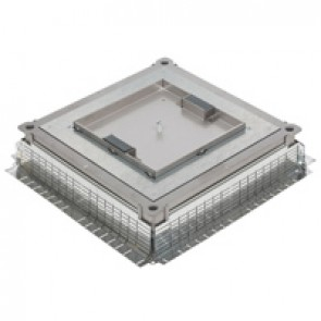 Plate for metal in-screed floor box - IP30 - with 2 lateral cable exits