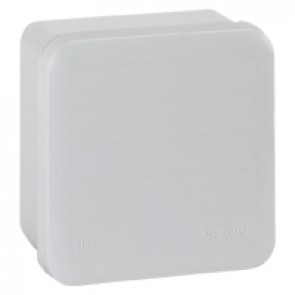 Square Plexo boxes with 7 direct entry membrane glands and smooth faces - IP55 IK07 - 80x80x45 mm - grey RAL 7035