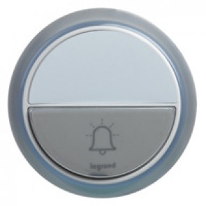 Comfort door bell for radio wireless chime kits - IP44 - white