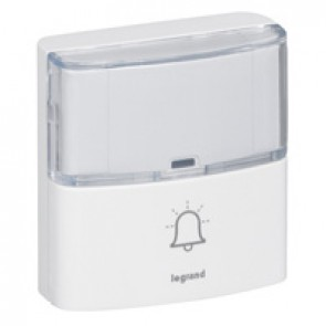 Serenity door bell for radio wireless chime kits - IP54 - white