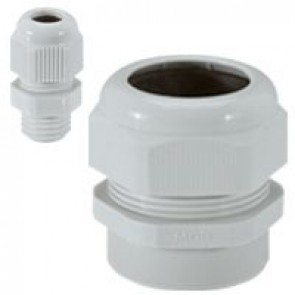 Cable gland plastic - IP55 - ISO 12 - clamping capacity 4-6.5 mm - RAL 7035