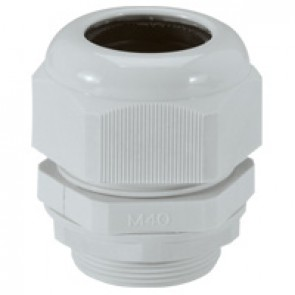 Cable gland plastic - IP55 - ISO 40 - clamping capacity 22-32 mm - RAL 7035
