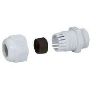 Cable gland plastic - IP55 - PG 42 - clamping capacity 30-38 mm - RAL 7001