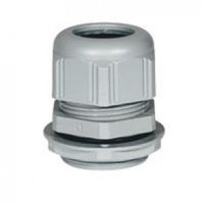 Cable gland plastic - IP68 - ISO 50 - clamping capacity 30-38 mm - RAL 7001