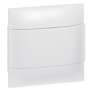 Practibox S flush-mounting cabinet for masonry without terminal blocks - white door - 1 row with 4 modules per row