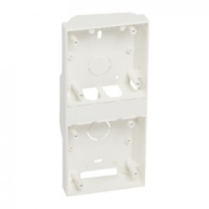 2-gang surface box - 200 x 90 x 33 mm - RAL 9003