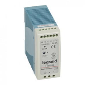 Stabilised switched modules power supply - single-phase - 20-60 W-output 12 V= -40 W