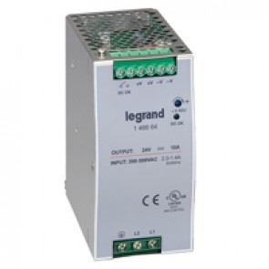 Stabilised switched modules power sup. -single/two-pheight -120-480 W -output 24 V= -240 W