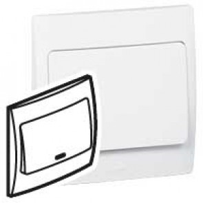 Illuminated switch Mallia - 1 gang - intermediate - 10 AX 250 V~ - white