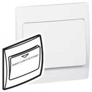 Key card switch for hotel Mallia - time delay 30 s - white