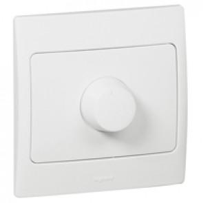 Rotary fan control Mallia 400 VA - white