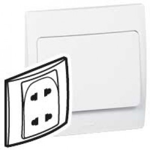 Socket outlet Mallia - Euro/US standard 10/16 A - 2P - 2 gang 250 V~ - white