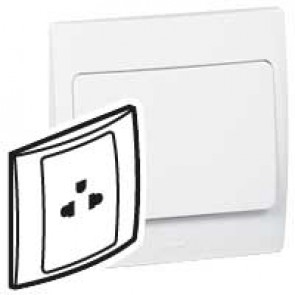 Socket outlet Mallia - Euro/US standard 10/16 A - 2P+E - 1 gang 250 V~ - white