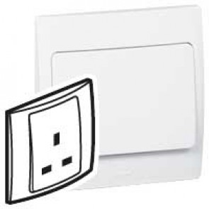 Socket outlet Mallia - unswitched - 1 gang - 13 A 250 V~ - white