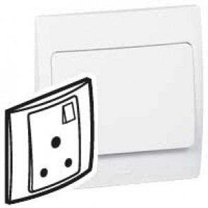 Socket outlet Mallia - switched - 1 gang - 15 A 250 V~ - white