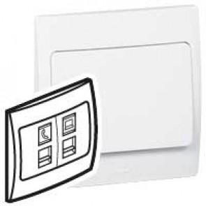 Telephone/data socket Mallia - RJ 11 + RJ 45 socket category 5e UTP - white