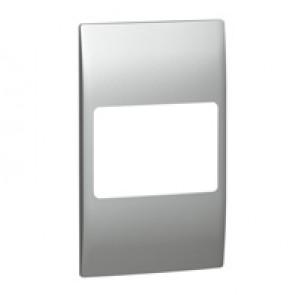 Plate Mallia - 2 gang vertical - silver