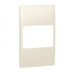 Plate Mallia - 2 gang vertical - pearl