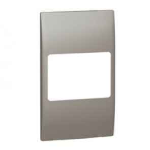 Plate Mallia - 2 gang vertical - dark silver